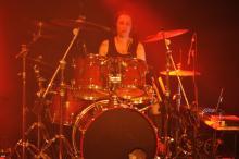 Schlagzeug Sonor S-Class drummerin Andrea Müller